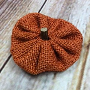 NEW Thanksgiving Burlap Pumpkin Hair Bow